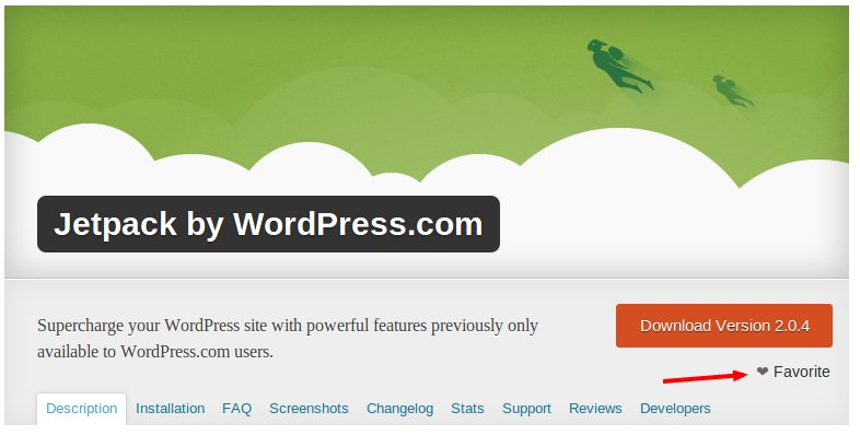 plugin_favorite wordpress
